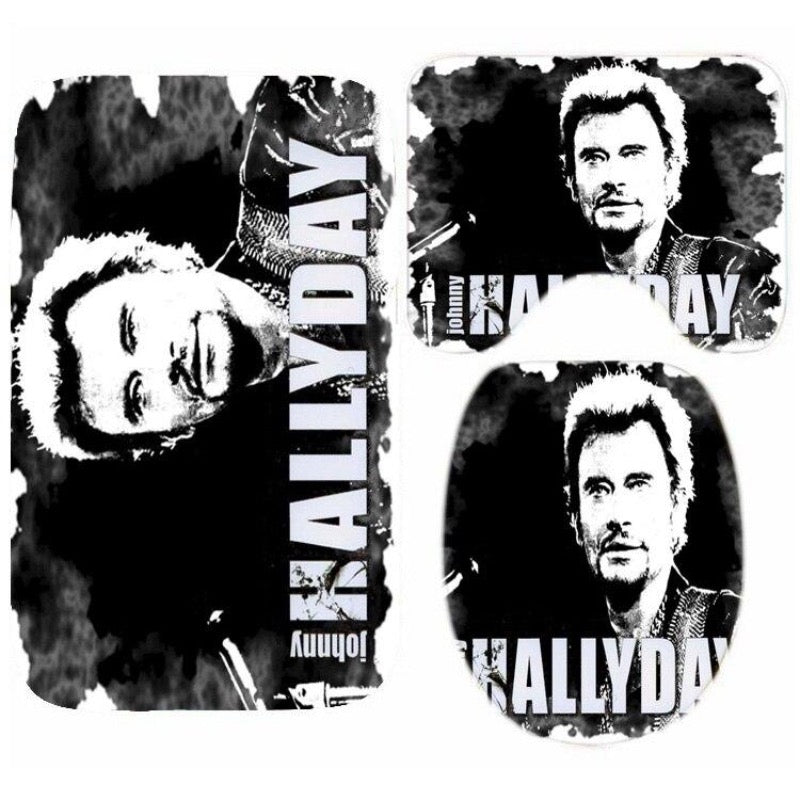 Tapis toilette Johnny Hallyday