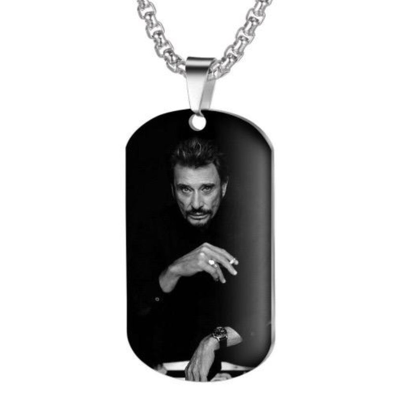 Collier Johnny Hallyday Patron du Rock Français