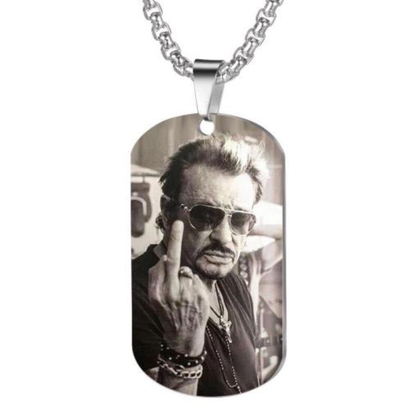 Collier Johnny Hallyday Fuck