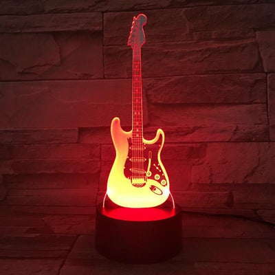 Lampe de chevet animée tactile Guitare