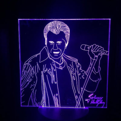 Lampe animée Johnny Hallyday