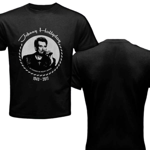 Tee-shirt Johnny Hallyday 1943-2017 Hommage