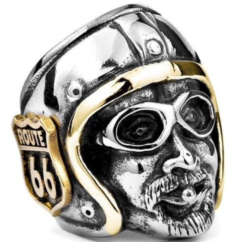 Bague Biker Route 66 Johnny Hallyday