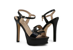 Laura Biagiotti Patent Leather Sandals