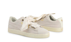 Puma White Suede Sneakers