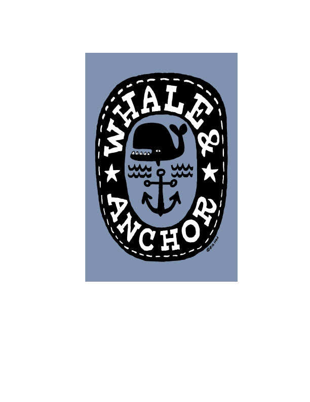 Whale & Anchor Sticker