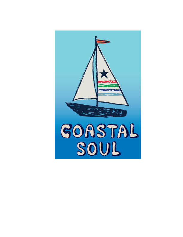 Coastal Soul Sailboat Sticker