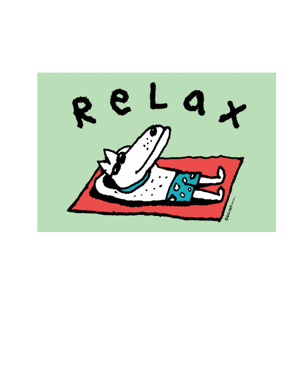 Relax Dog Sticker