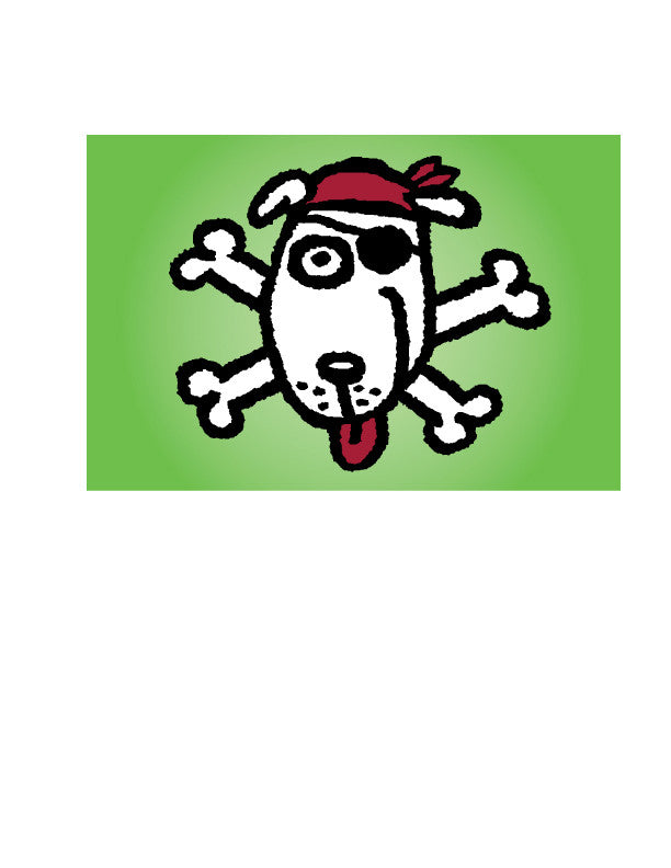 Pirate Dog Sticker
