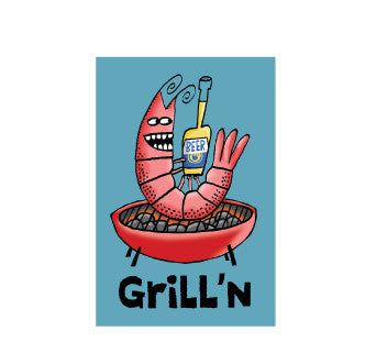 Grill'n Shrimp Sticker