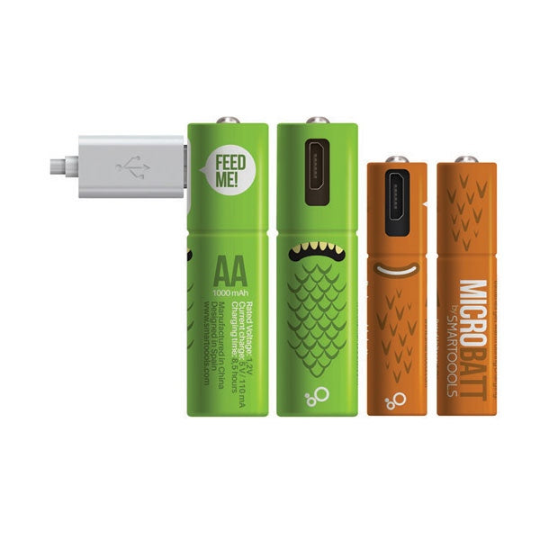 Microbatt - Micro USB Rechargeable AA Batteries