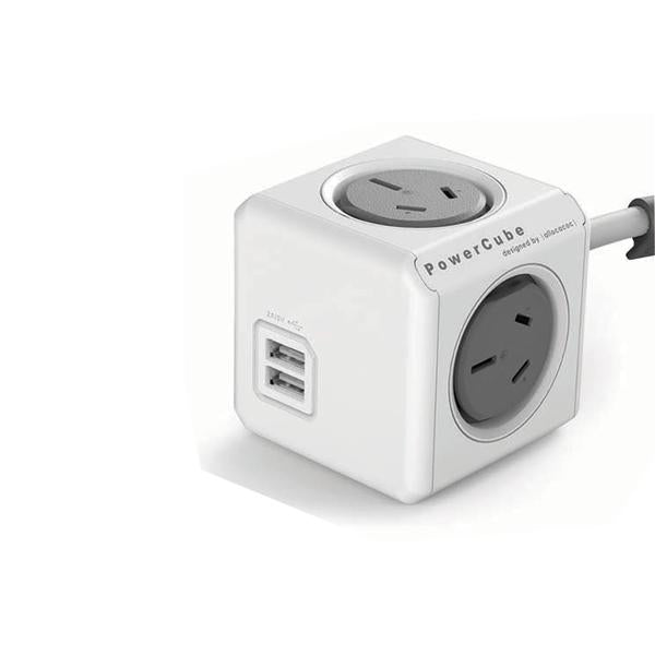 Allocacoc Powercube Extended USB-Grey