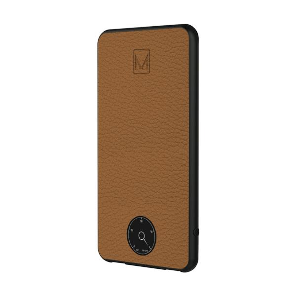MOYORK 6000 mAh Power Bank Genuine Leather With Retro Dial - Sudan Brown
