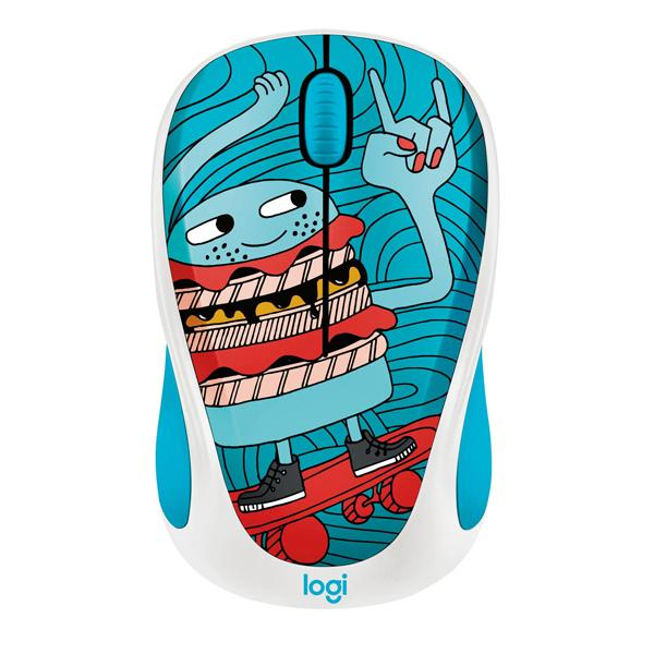 Logitech Doodle Collectoin M238 Wireless Mouse - Skateburger