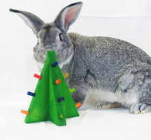 Load image into Gallery viewer, Standing Christmas Tree Rabbit Toy