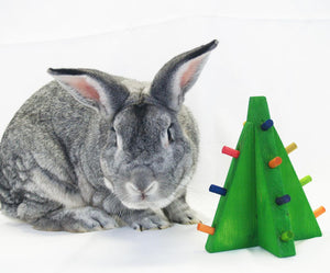 Standing Christmas Tree Rabbit Toy