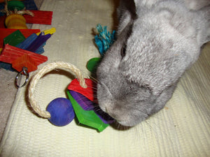 Sisal Keyring Rabbit Toy