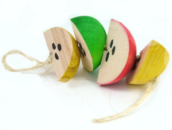String of Apples Toy for Rabbit