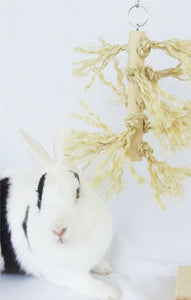 Fuzzy Log Rabbit Toys - Natural