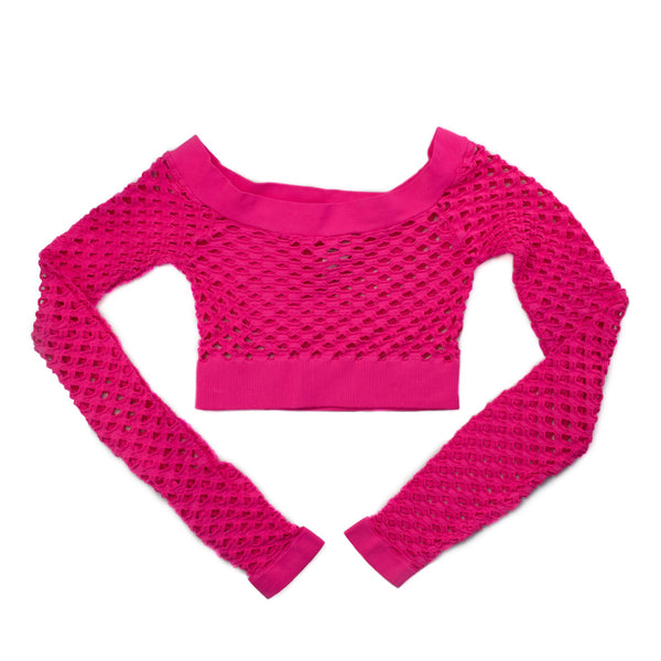 Mesh Top - Cropped Long Sleeved