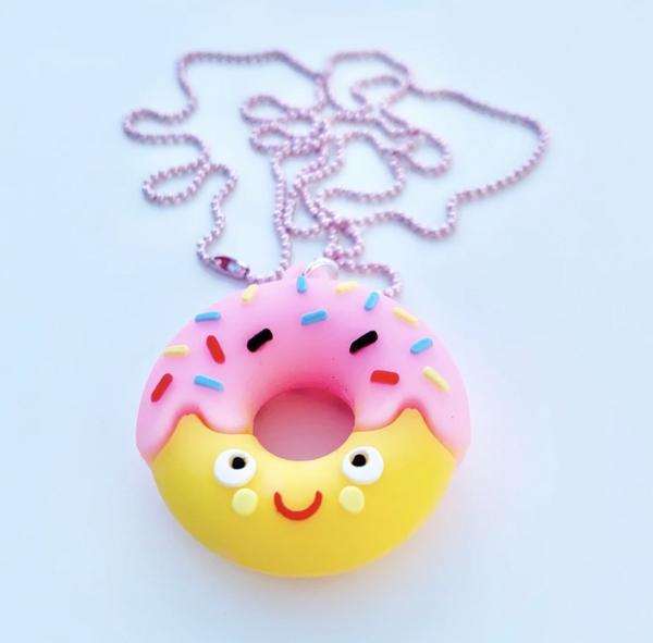 Chain Necklace - Donut Face