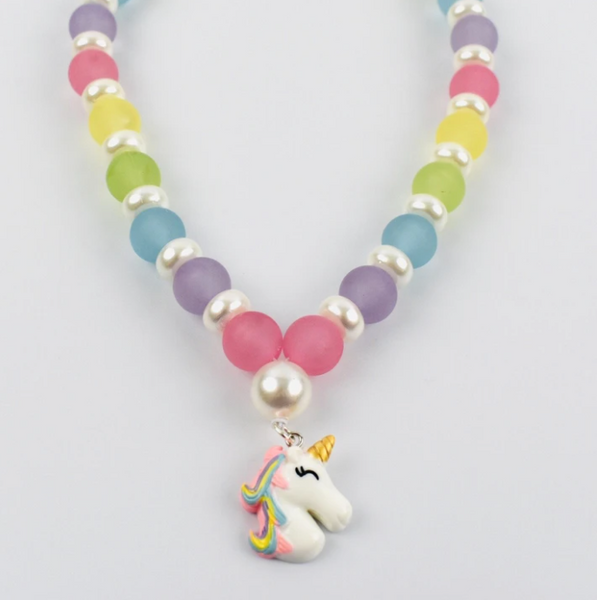 Beaded Necklace - Rainbow Unicorn