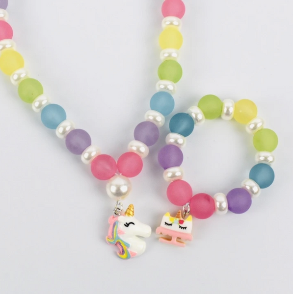 Beaded Bracelet - Rainbow Unicorn