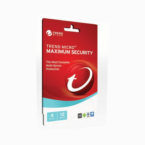 Trend Micro Maximum Security 2017- 1-4 Devices