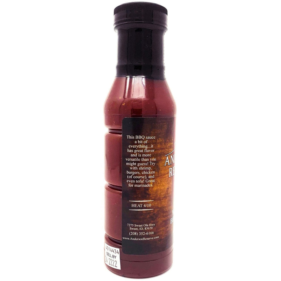 Whiskey BBQ Sauce Condiment Anderson Reserve