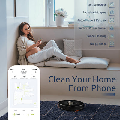 <span>Cybovac S31 Robot Vacuum</span> <br /> <span>The Smart Laser Robot Vacuum With Self-Emptying Dustbin</span>