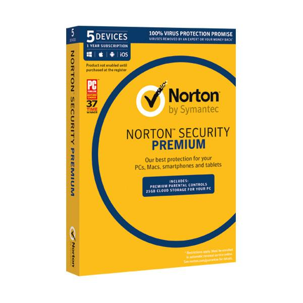 Norton Security Premium 5 Devices for POSA Activation