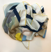Load image into Gallery viewer, Silk twill scarf butterfly deconstructed soft color