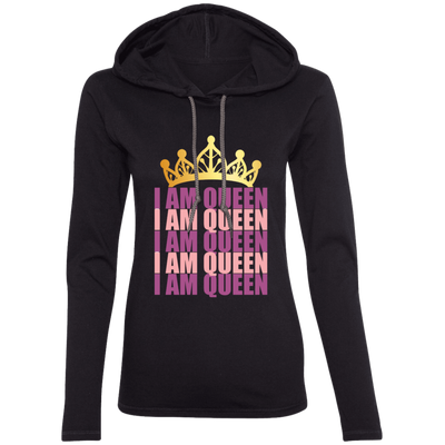 """I AM QUEEN"" by Wisam womens' lightweight hoodie - SW@gSpot"