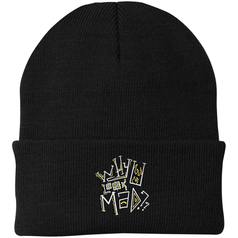 Why you mad embroidered knit cap - SW@gSpot