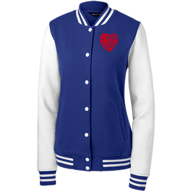 TRUE LOVE by Wisam women's Embroidered Fleece Letterman Jacket