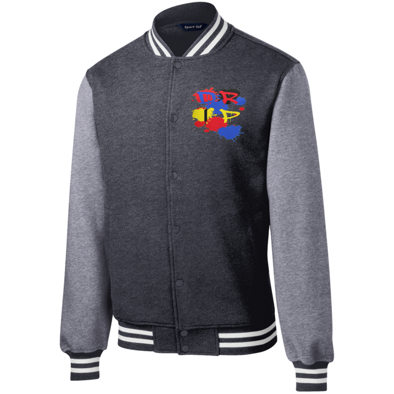 MENS DRIP by Wisam Fleece Letterman Jacket