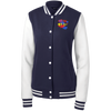 DRIP by Wisam women's Embroidered Fleece Letterman Jacket - SW@gSpot