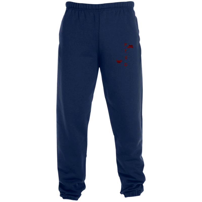 PTSD By Wisam GRAPHIC EMBROIDERED Sweatpants with Pockets