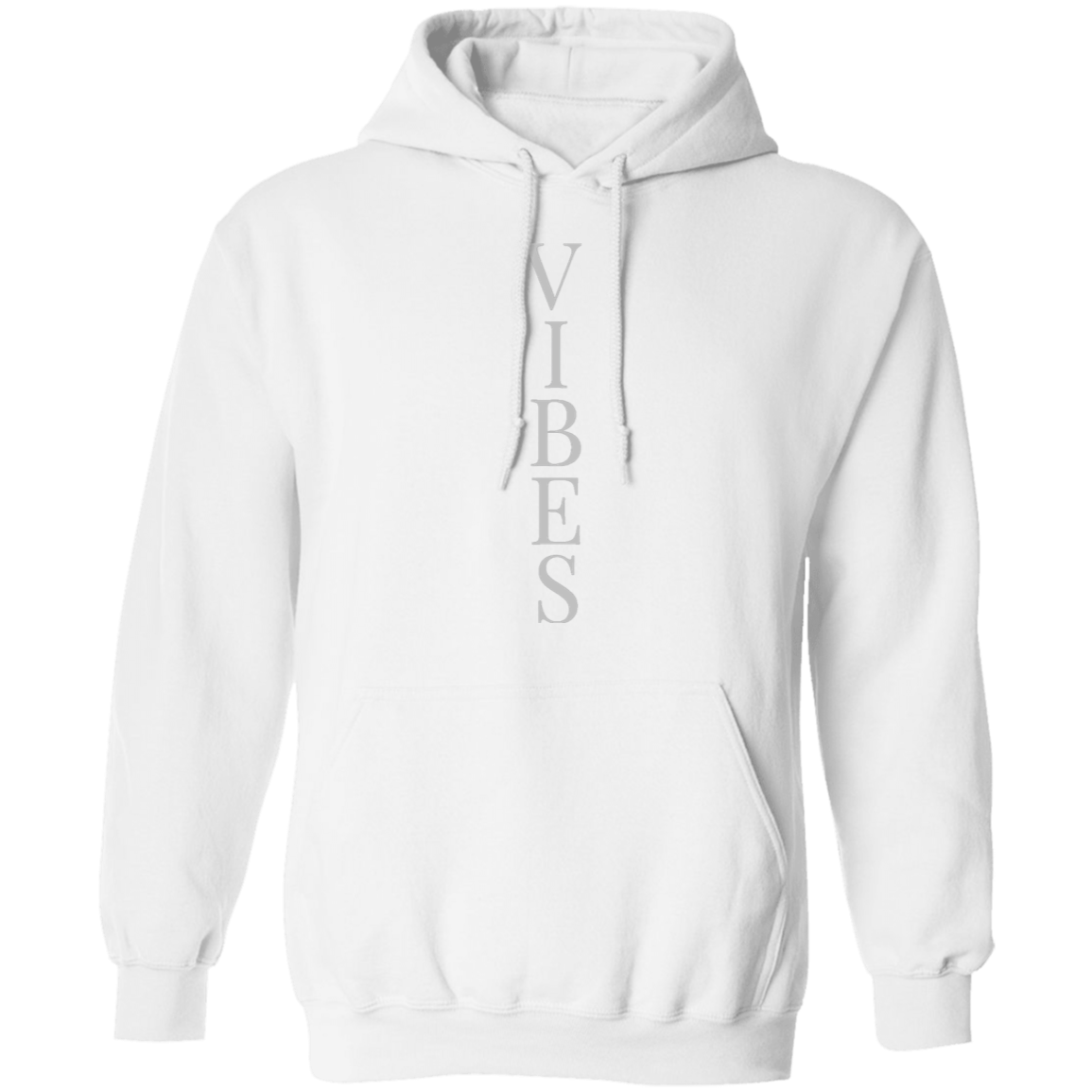 Vibes Silver Pullover Hoodie