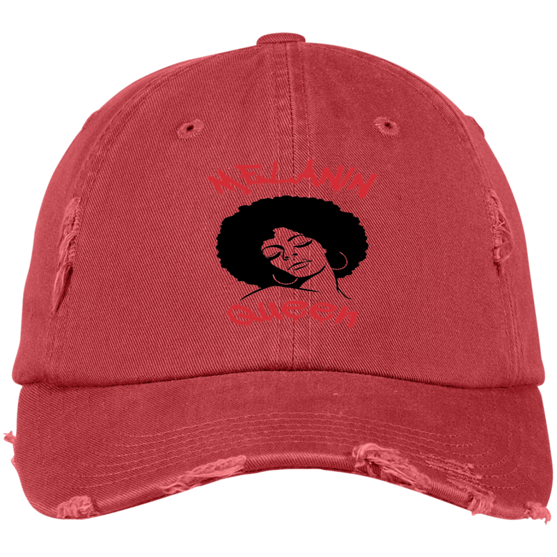 MELANIN QUEEN by Wisam embroidered Distressed Dad Cap