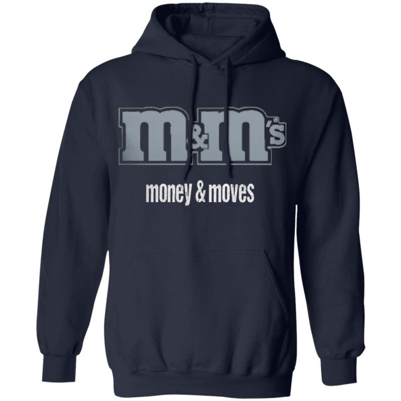 Money & Moves Grey Logo Unisex Hoodie