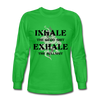 Inhale Exhale Unisex Long Sleeve T-Shirt - SW@gSpot