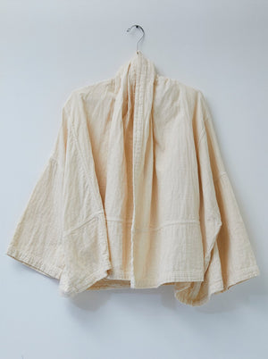 Atelier Delphine Double Cotton Gauze Kimono Jacket / Available in Kinari & Black
