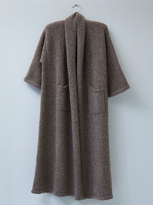 Atelier Delphine Haori Extra Long Alpaca Sweater Coat / Deer