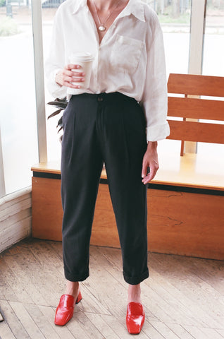 Na Nin Oliver Pant : Raw Silk Or Silk Linen / Multiple Colors