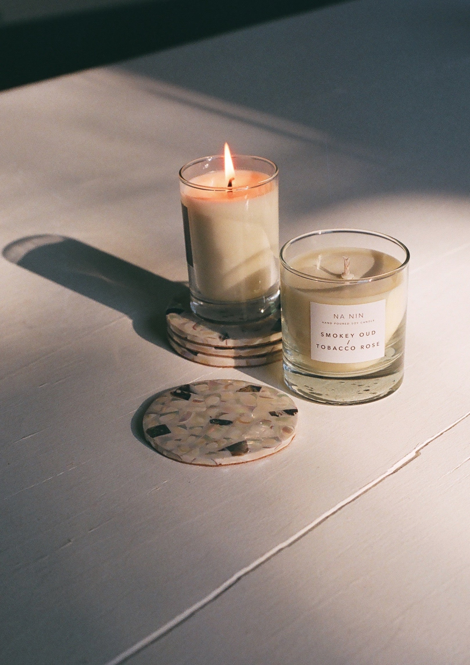 Smokey Oud & Tobacco Rose Candle / Available in Multiple Sizes