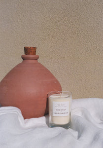 Coconut & Sandalwood Candle / Available in Multiple Sizes
