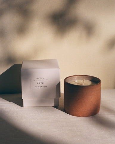 Bath Candle / Available in White & Terracotta