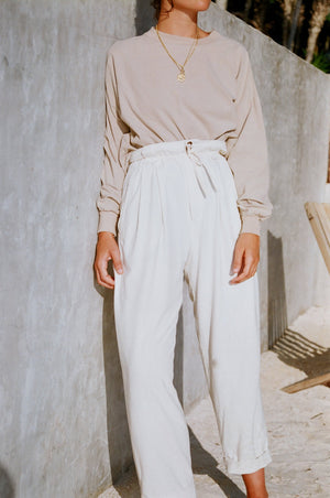 Na Nin Townes Raw Silk Trousers / Available in Multiple Colors