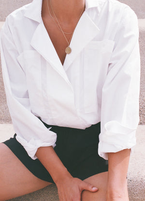 Na Nin Clarke Button Up / Available in White